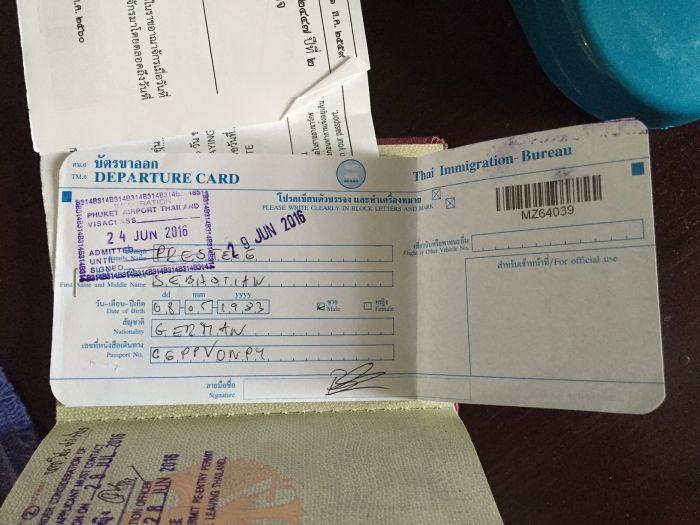 departure karte thailand einreise visum